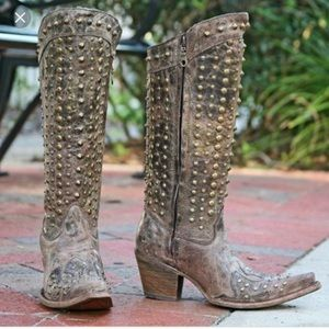 Corral studed boots